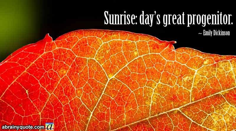 Emily Dickinson Quotes on Morning Sunrise
