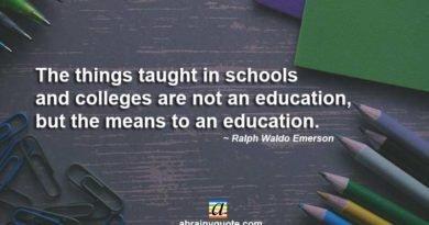 Ralph Waldo Emerson on Graduation and Education