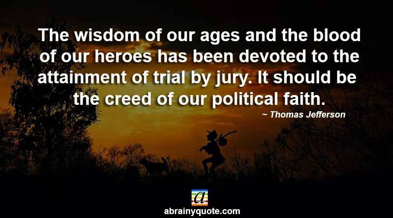 Thomas Jefferson Quotes on our Political Faith