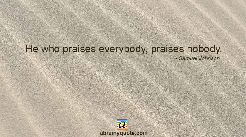 Samuel Johnson Quotes on Praises and Inspiration