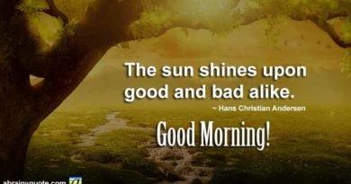 Hans Christian Andersen on Where the Sun Shines