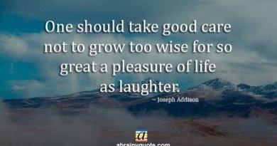 Joseph Addison Quotes on the Pleasure of Life