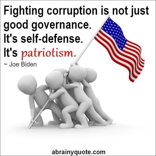 Joe Biden Quotes on Good Governance and Patriotism