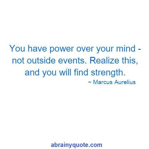 Marcus Aurelius Quotes on Power Over Your Mind
