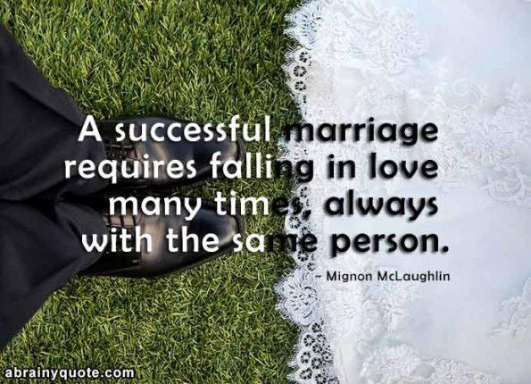 Mignon McLaughlin Quotes on a Successful Marriage