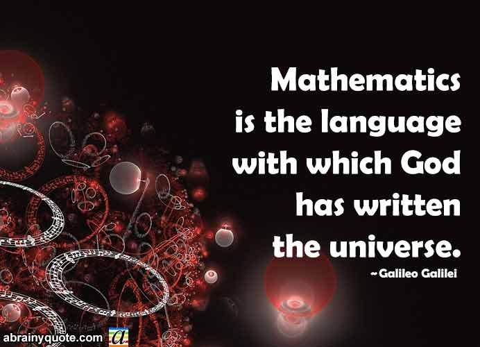 Galileo Galilei Quotes on Mathematics Language of Gods