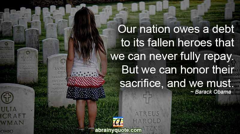 eteran's Day Quote on Honoring Fallen Heroes
