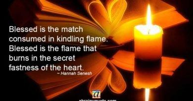 Hannah Senesh Quotes on Hanukkah and Kindling Flame