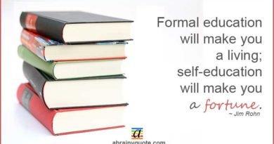 Jim Rohn Quotes on Formal Education