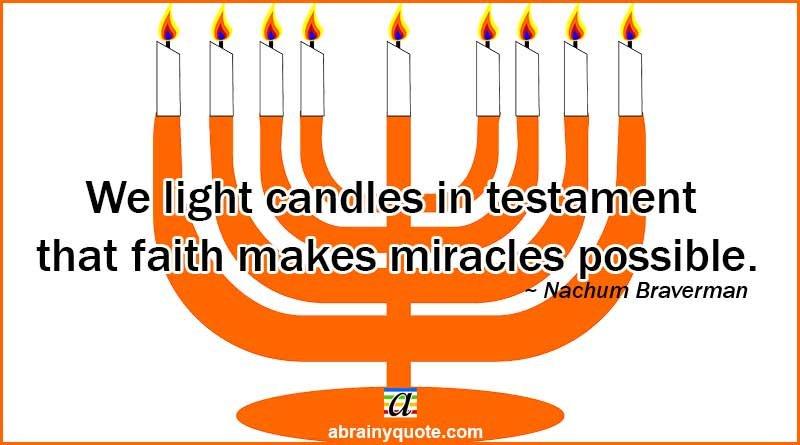 Nachum Braverman on Hanukkah and Miracles