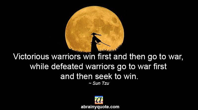 Sun Tzu Quotes on Victorious Warriors