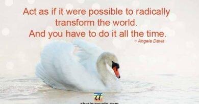 Angela Davis Quotes on Transform the World
